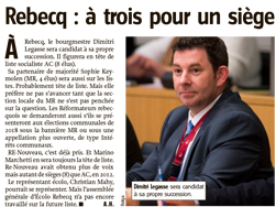 Article de Vers l'Avenir - 22-11-2016 - MR de Rebecq