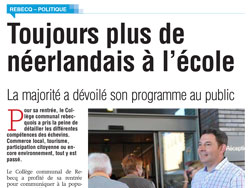 Article de SudPresse - 27-09-2016 - MR de Rebecq