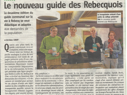 Article de la Vers l'Avenir -26/02/2014 - MR de Rebecq