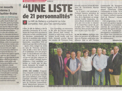 Article de la DH - 1/06/2012 - MR de Rebecq