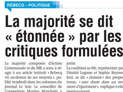 Article de la Capitale - 25-04-2016 - MR de Rebecq