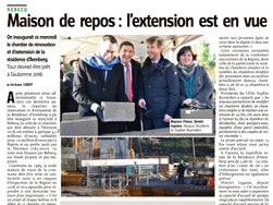 Article de Vers l'Avenir - 04/02/2016 - MR de Rebecq