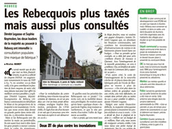 Article de Vers l'Avenir - 16-02-2016 - MR de Rebecq